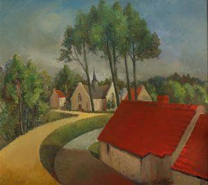 Vlassenbroek aan de Schelde - olieverf op doek - Pieter Ringoot