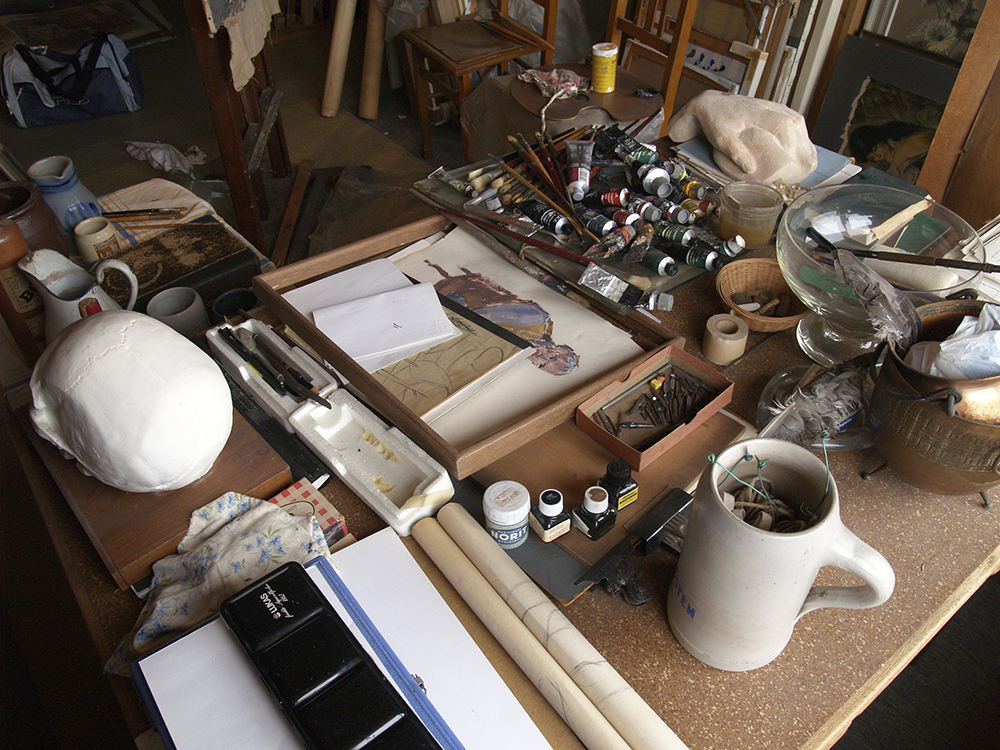 Het atelier van Pieter Ringoot in Lebbeke.